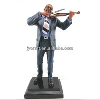 suits black man playing violin statues sculpture in arts and crafts