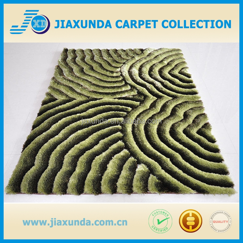 Polyester home shaggy luxury pattern carpet