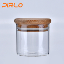 60ml glass jar with bamboo lid