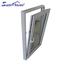 good waterproof tilt turn type vinyl glass window Upvc window