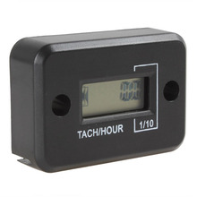 Waterproof Digital Car Tachometer LCD Auto Motorcycle Tach Hour Meter Gauge for 4 Stroke Gas Engine
