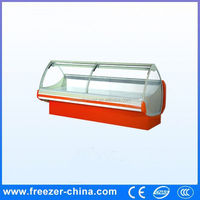 CE/ISO certification single temperature display seafood refrigerator