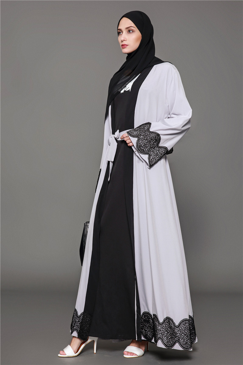 Detail Feedback Questions about Lace Patchwork Dubai Abaya Dress ... ccb487ccf061