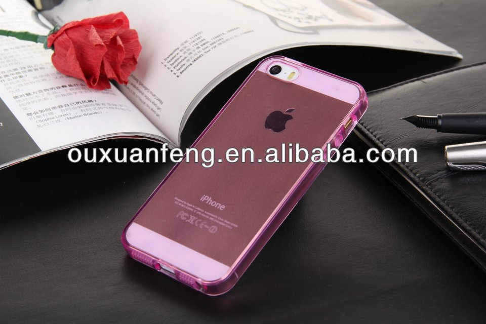 For Apple iPhone 5 5s New Stylish Transparent Ultra Thin Soft TPU Case