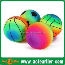 Plastic Inflatable toy balls colorful pvc soccer /footbal/playground ball/volleyball rainbow balls