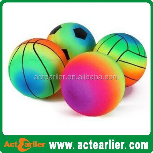 Plastic ball Inflatable toy balls colorful pvc soccer ball/footbal/playground ball/volleyball rainbow playground ball
