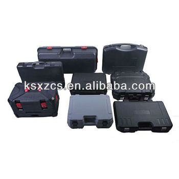 Blow molded hard plastic carrying cases