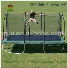 Jumping 10 x 14 Foot Rectangular Trampoline with Safety Net Siding used cheap rectangle trampolines trampolines rectangle