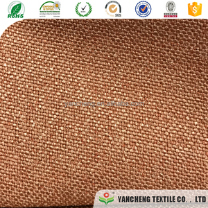 polyester linen fabric material for sofa set and car seat