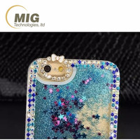 For Samsung s4 Colorful plastic quicksand glitter star liquid mobile phone case For Samsung galaxy s4