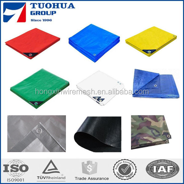 HDPE woven fabric with LDPE film Tarpaulin sheet