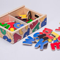 Magnetic Alphabet Wooden Blocks Educational Toy Manufacturers