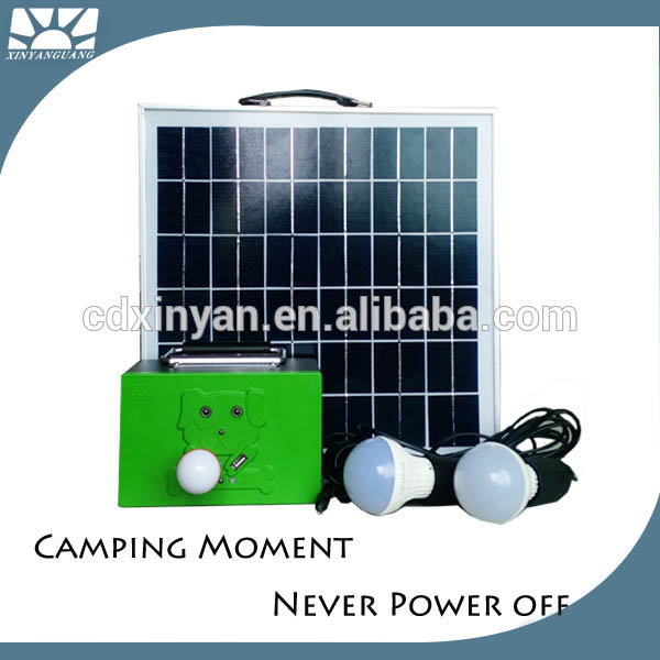 10W 20W 30W mini solar home lighting system solar camping light