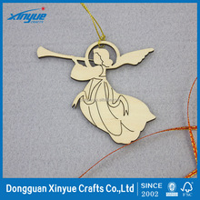 Laser cut wood Christmas Decoration, Christmas Tree Pendant , Christmas Angel with Horn