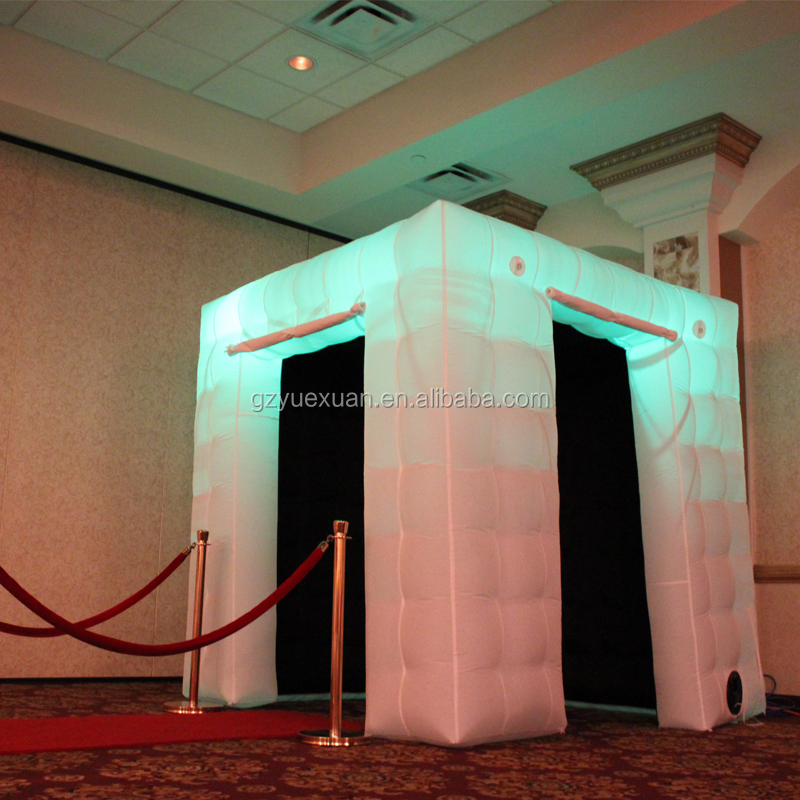 Led portable inflatable photo booth tent inflatable cube for advertising wedding Enclosure