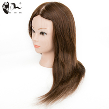 Free Shipping 16inch mannequin head 100% real human hair