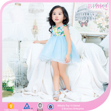 Latest Design Children Baby Girls Frock Kids Print Beautiful Model Dresses