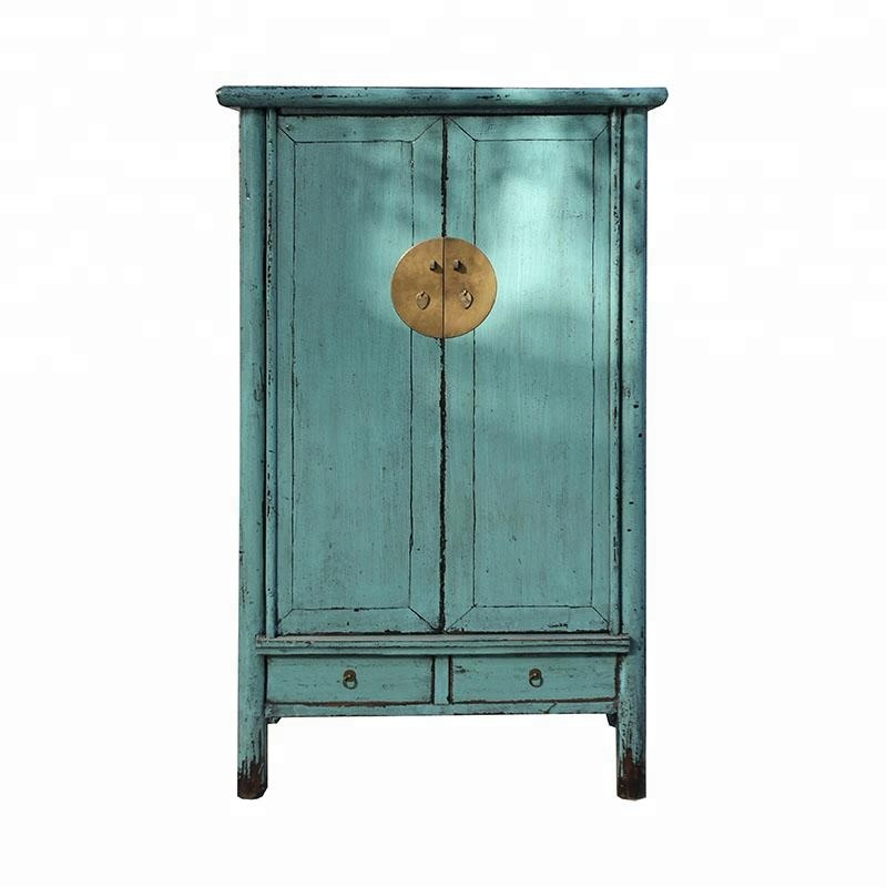 Chinese Oriental Antique Reproduction Lacquered Wardrobe Bedroom Furniture
