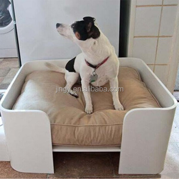 white square home decor acrylic royal dog bed