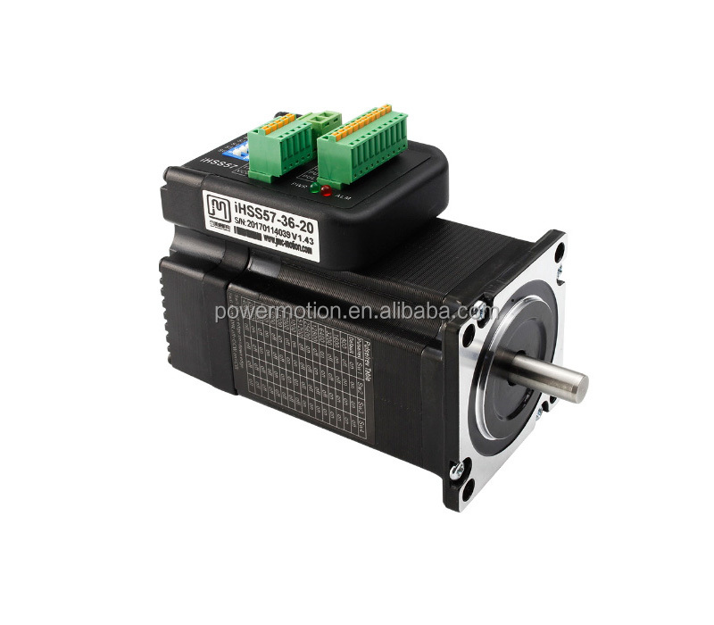 IHSS57-36-20 2 phase 2Nm nema 23 easy servo motor cheap china integrated closed loop stepper motor and driver