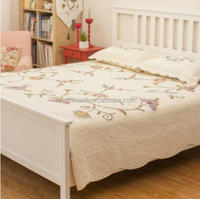 King Size Embroidery Design Turkish Indian Cotton Luxury Bedspread