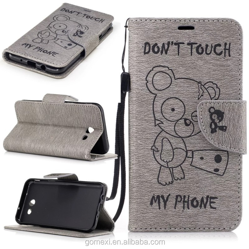 Hot Sale Bear Cover Flip PU Wallet Leather Mobile Phone Case For iPhone 6 6Plus 7 7Plus Cellphone Stander Accessory