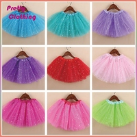 Girl's Mix-Color cute dance tutu chiffon pettiskirt layered rainbow tiered girls in short skirts