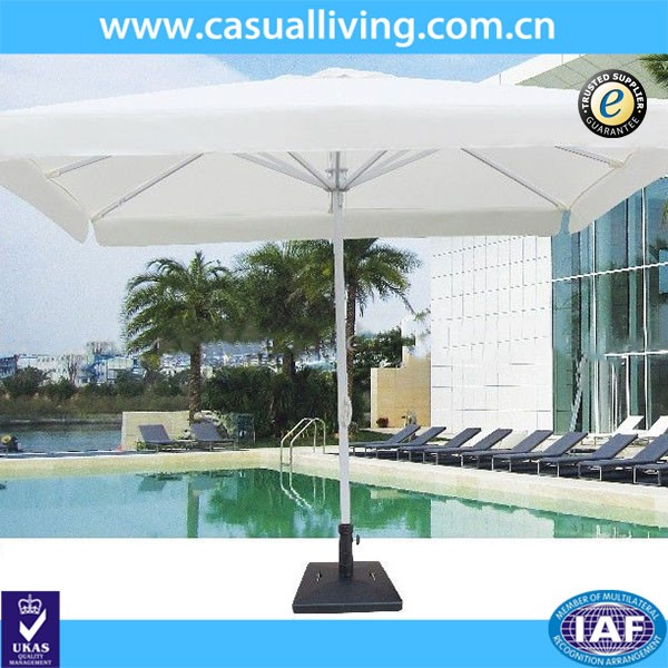 Patio Waterproof Metal White Sun Umbrellas with Crank