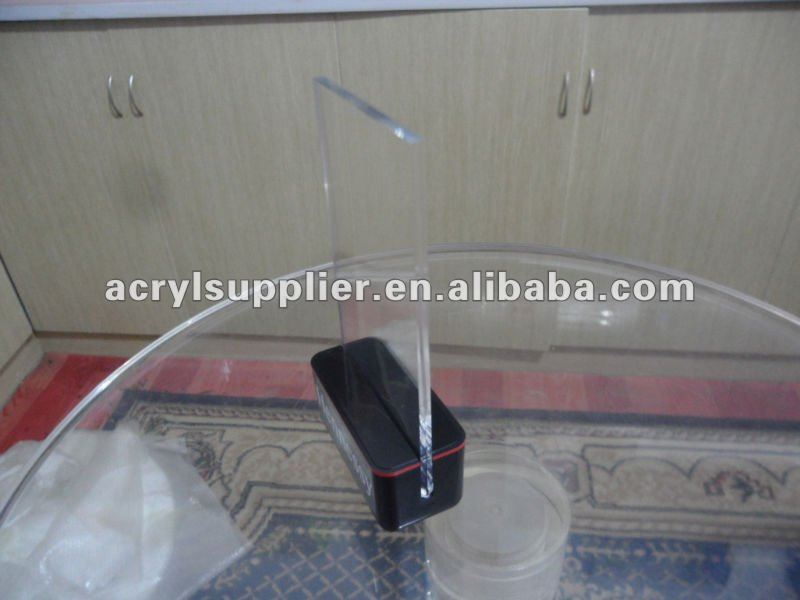 acrylic table menu display holder with different sizes