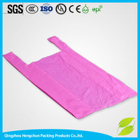 custom printed cheap t shirt shopping carrying plastic bag from china
