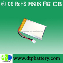 Long time lasting rechargeable game battery 3.7V 500mah