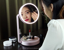 Smart Lighting LED Touch Table Lamp With Lighted Makeup Mirror