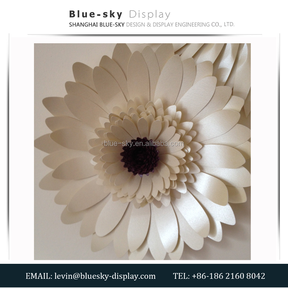 Big Paper Flower - Unique Paper Flower - Elegant Wall Decoration - Unique Wedding Backdrop - Unique Design Paper Rose