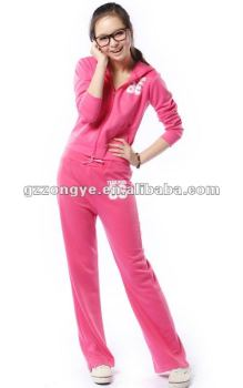 OEM supply high quality casual sweatsuit for girls women sports suit guangzhou manufacturer with low MOQ