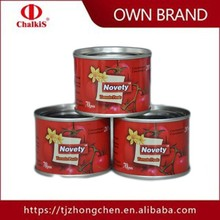 canned tomato paste 28-30%concentration best price tomato paste