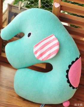 Sad circus elephant U-pillow neck pillow small pillow doll plush toys