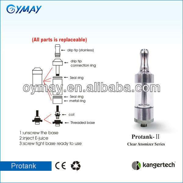 100% original protank 2 kanger in shenzhen hot sale electronic cigarette