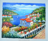 Beautiful sea scape oil painting sea view oil painting stock price