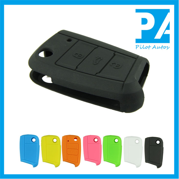 Factory wholesale Colorful High quality Silicone Car Key Cover Remote Case For VW Volkswagen golf 7 MK7