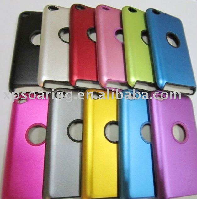 Aluminum hard case skin back skin cover for ipod touch 4