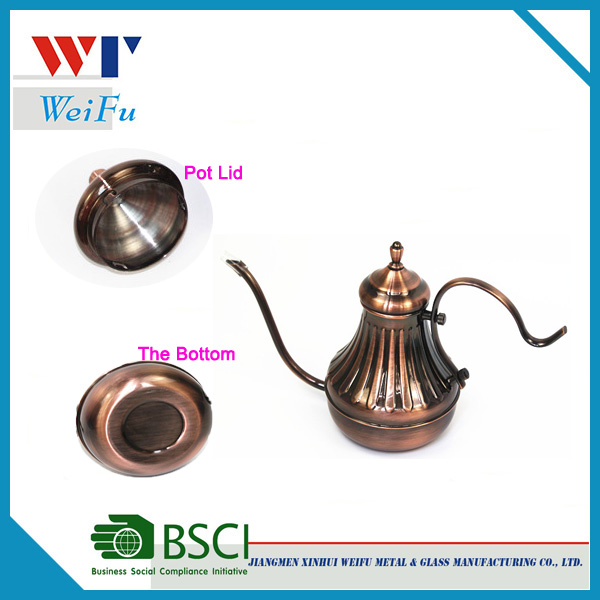 450ML stainless steel copper plating turkish coffee pot