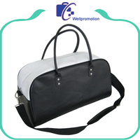 Wellpromotion high quality PU leather travel duffle bag
