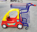 Plastic and metal Kid Supermarket Trolley Cart