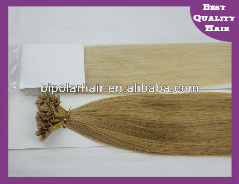 Wholesale virgin remy indian double drawn hair U tip Fusion Bonding Glue Hair extensions
