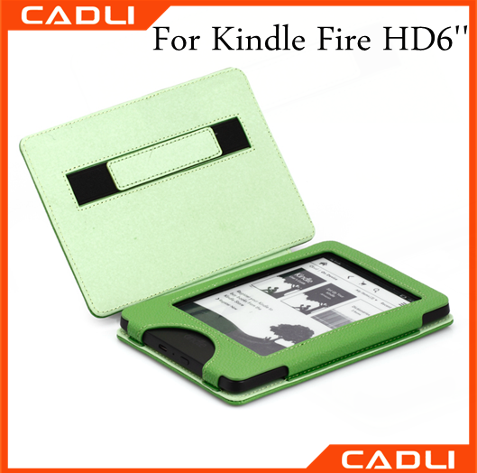 New design for kindle leather flip case for Amazon Kindle fire HD 6'' 2014 High quality pu case for Kindle HD6
