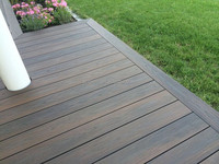 Strong temperature adaption and high degree of colorstability and water resistant co-extrusion decking