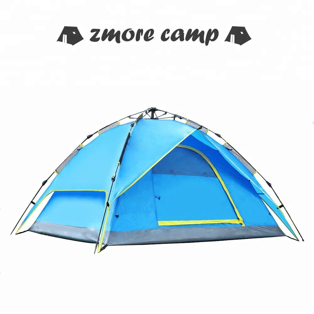 Automatic Hydraulic <strong>Tent</strong> Pop Up 2-4 Person Instant Setup <strong>Tents</strong> for Camping, Double Layers UV Protection Waterproof Camping <strong>Tent</strong>