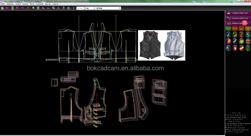 Garment pattern design/cad softare/intelligent grading system/super nesting Apparel CAD software