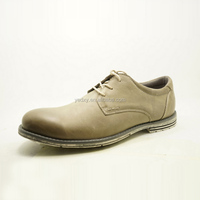 grey color derby style genuine leather upper high quality men leather shoes wholesale import