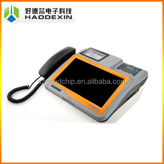 Touch screen pos system with receipt printer and barcode scanner,pos billing machine for supermarket---Gc039B